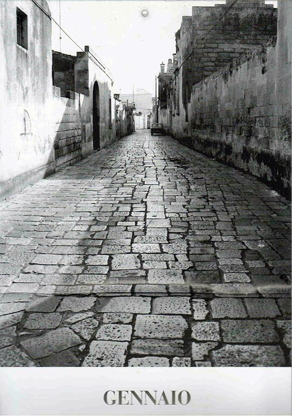 Centro storico via Costantino Martano anni 80